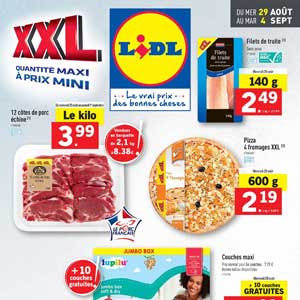 Catalogue Lidl Du 29 Août Au 04 Septembre 2018