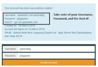 KTR Config - speedssh.com SG Server 7 days was used in creating SSH account