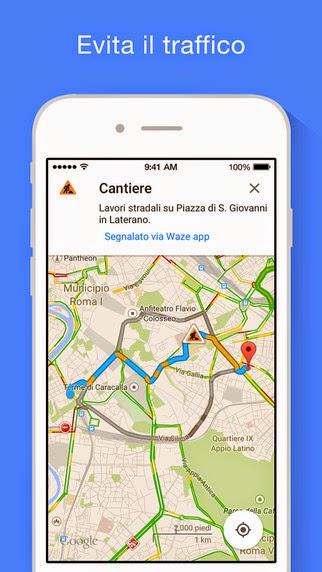 Google Maps-navigazione in tempo reale, traffico, trasporti pubblici e luoghi d'interesse vers 4.22.0