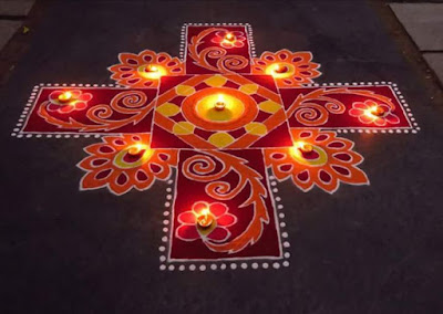 Happy New Year Rangoli Designs Pictures