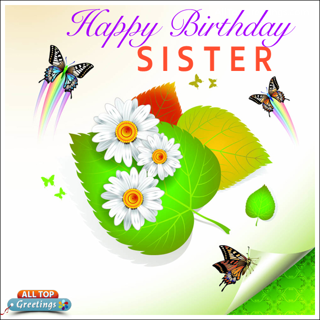 Happy Birthday To My Wonderful Sister Images