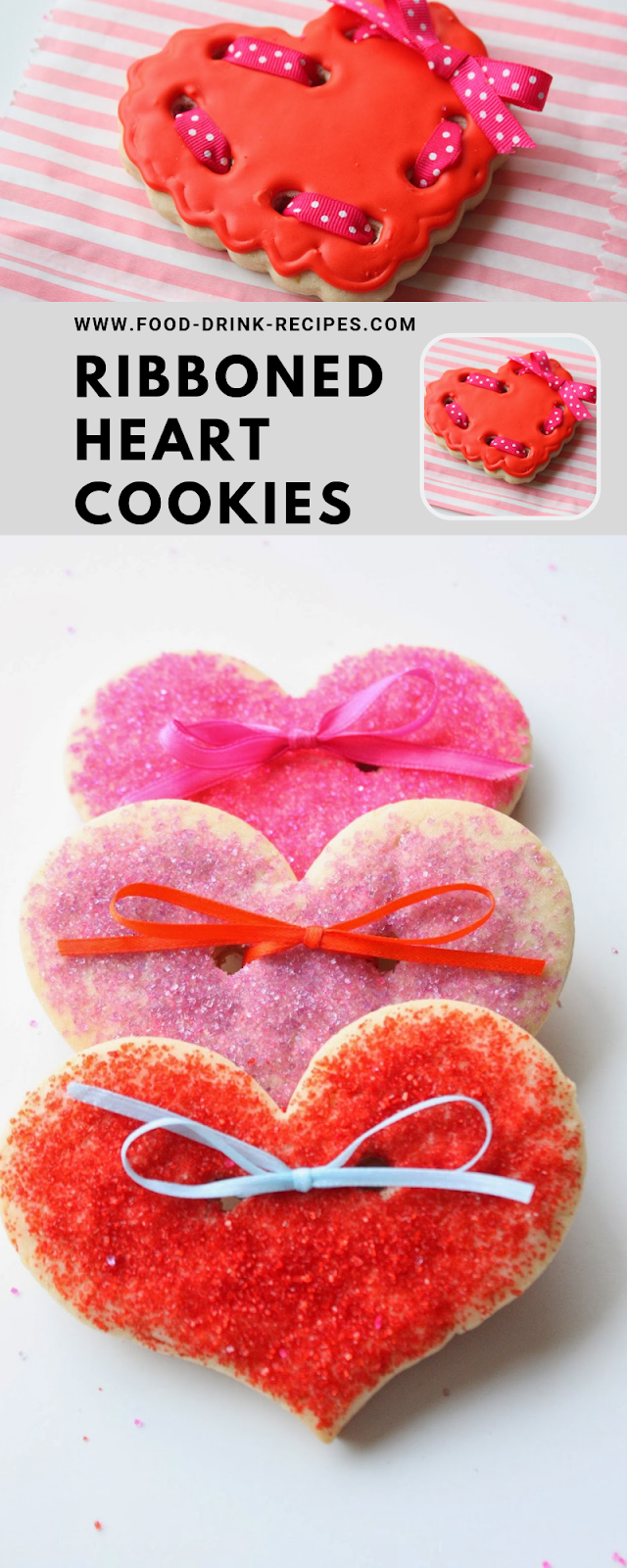 Ribboned Heart Cookies