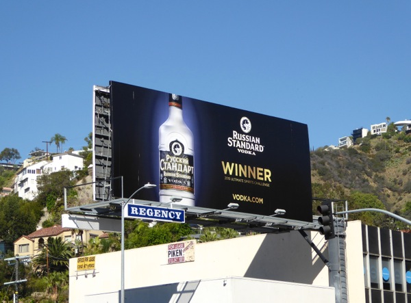 Russian Standard Vodka Winner billboard