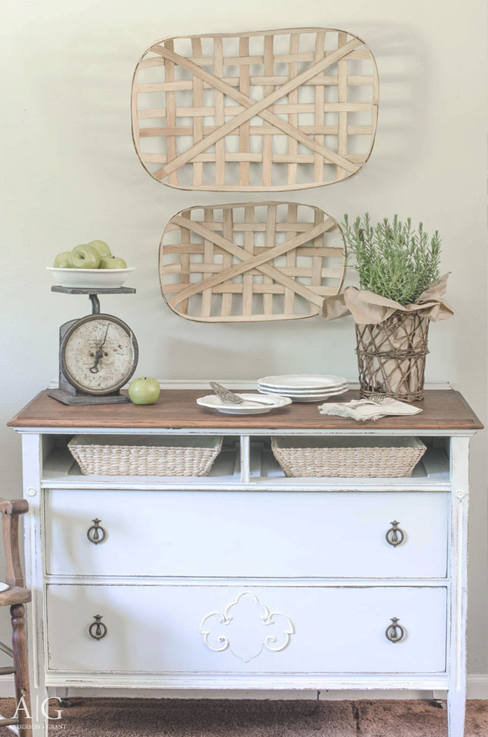 A fixer upper dresser gets a farmhouse makeover.  |  www.andersonandgrant.com