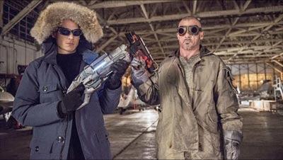 """The Flash 2014, Lenard Snart """"Captain Cold"""" y Mike Rory """"Heatweave"""" interpretados por Wenworth Miller y Dominic Purcell respectivamente, los hermanos de Prison Break"""