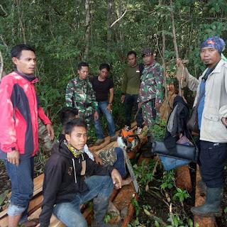 Tim Opsgab Kodim Sumbawa - KPH Berhasil amankan Pelaku Illegal Logging