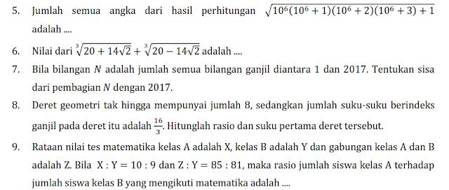 Persiapan OSN Matematika 2017