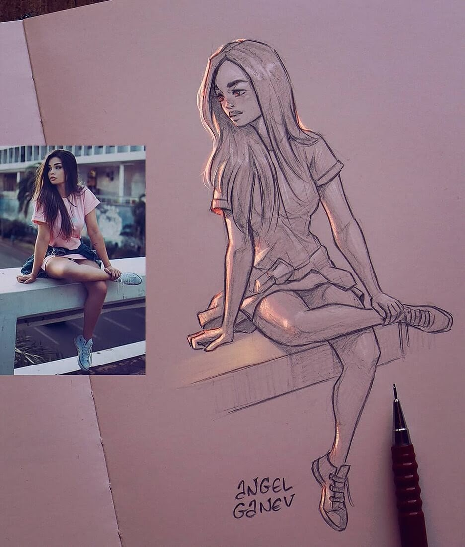 11-Sketch-from-Reference-Angel-Ganev-Luminous-Pencil-Portraits-that-Glow-www-designstack-co