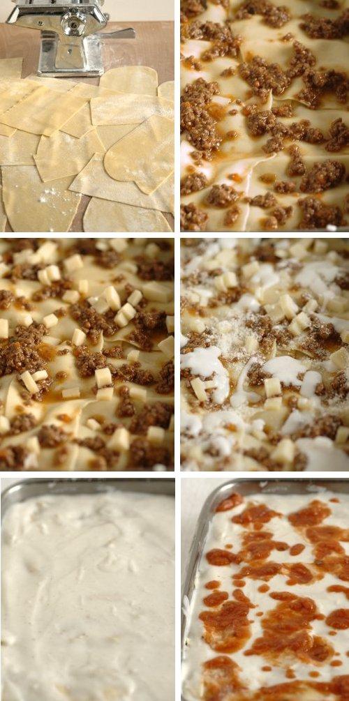 Lasagne con pasta fatta in casa
