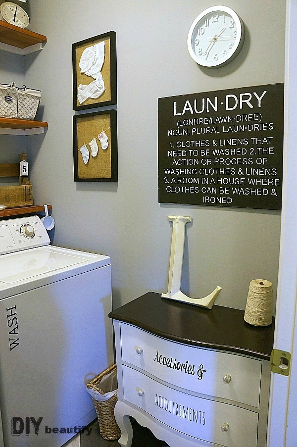 farmhouse style in a laundry room