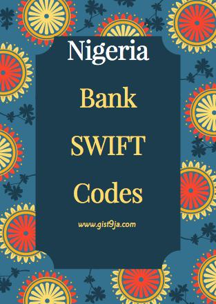 List of Nigerian Bank SWIFT codes