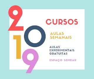 Cursos 2019 - aulas semanais