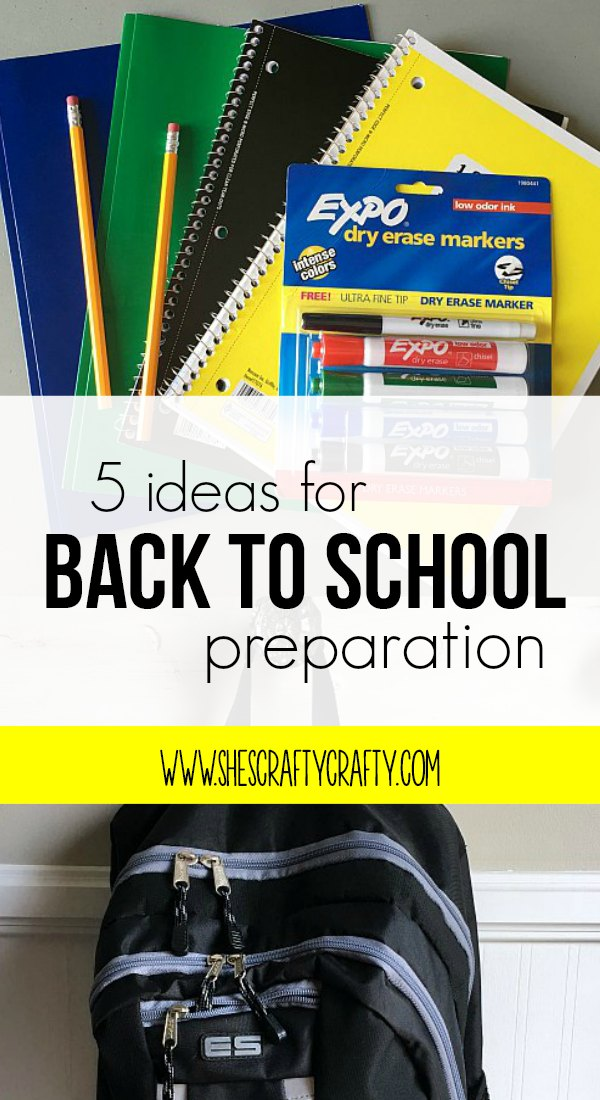 back to school, 5 ideas, back pack, yellow, school supplies
