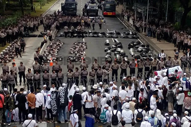 Polisi Bakal Sekat Massa Reuni Aksi 212 dan Peserta Kontemplasi 212