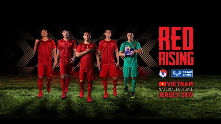 sale retailer 31294 aa527 Vietnam 2019 Asian Cup Home, Away & Goalkeeper Kits Revealed ...