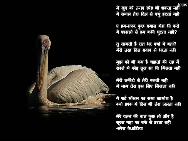 मे खुद को तन्हा छोड भी शकता नही Hindi Gazal By Naresh K. Dodia
