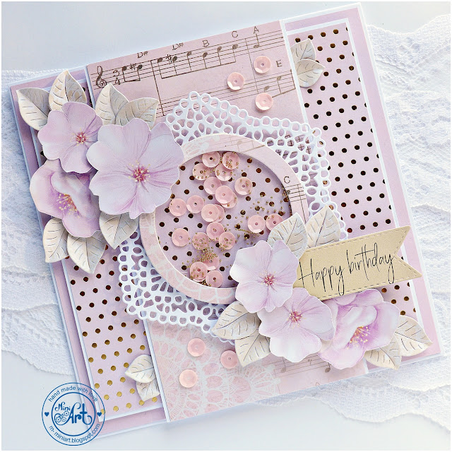 Romantyczna kartka / Romantic card – DT Craft Passion