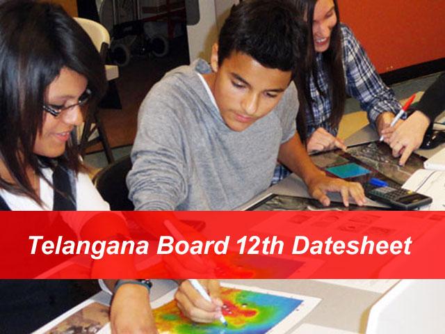 Telangana Intermediate Time Table 2018 TS Board 12th 1st Year, 2nd Yea Exam Routine Released