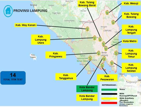Lokasi Tes Cat BKN Propinsi Lampung