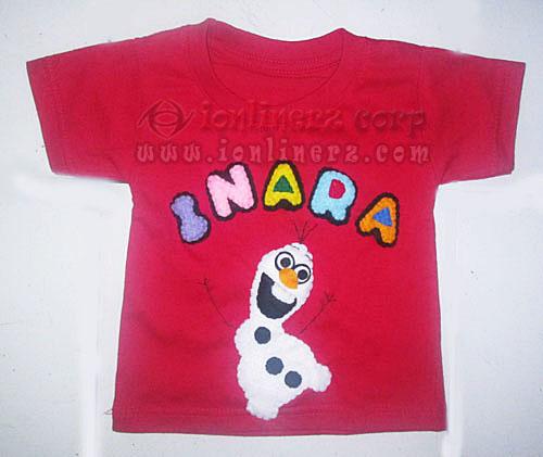 Kaos / Baju Flanel Anak Karakter Kartun Olaf Frozen