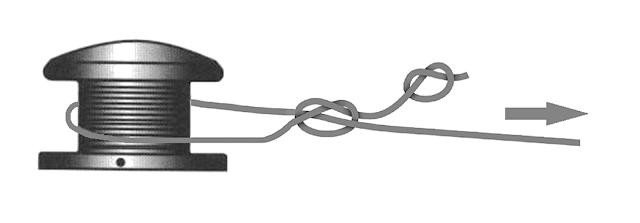 Noeud bobine moulinet