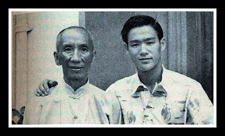 Bruce Lee with his martial arts teacher