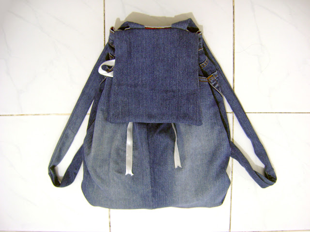 DIY Denim Backpack from Jeans Pants
