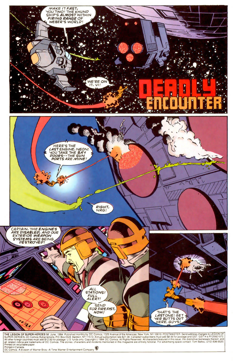 Legion of Super-Heroes (1989) 58 Page 1