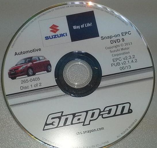 Toyota Plants In Usa >> AutoParts Catalogs: SUZUKI - WorldWide (Snap On)