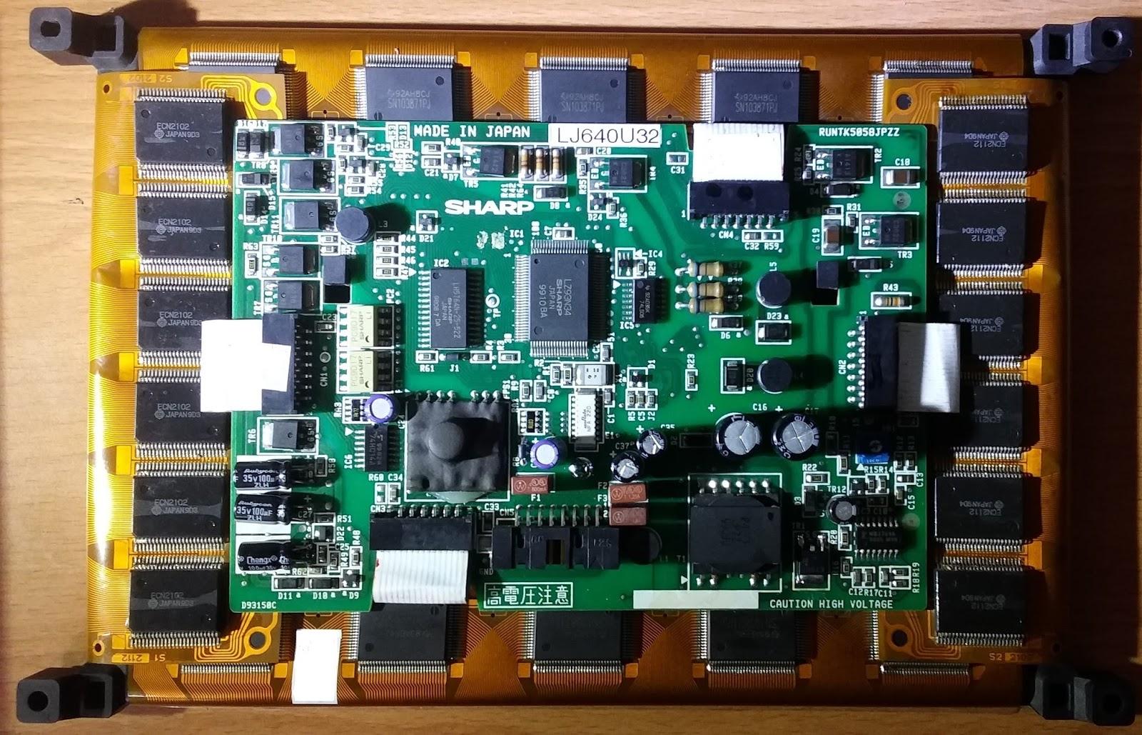 竹東液晶維修: 工業電腦顯示模組 EL面板 SHARP LJ640U32