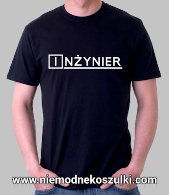 prezent z okazji obrony inżyniera koszulka