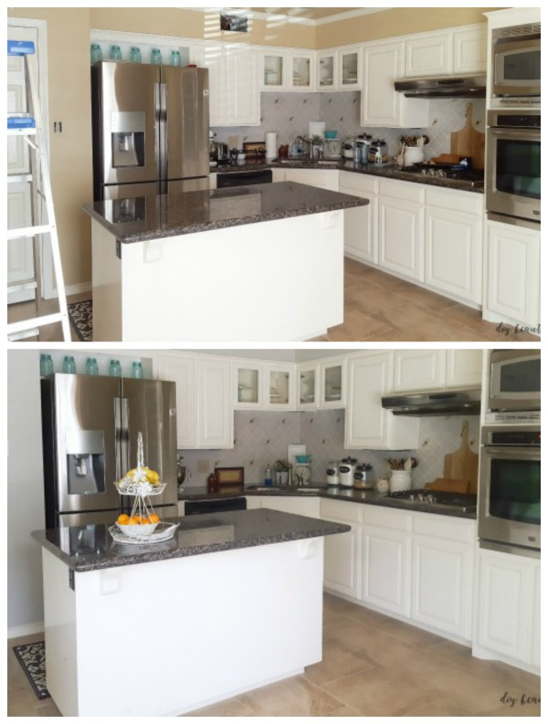 kitchen from beige to gray