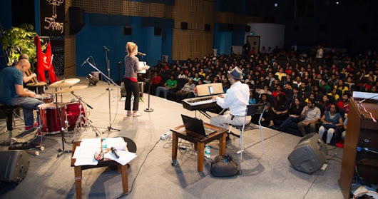 The 5th Veda session at Whistling Woods International introduces the students to the world of jazz music
