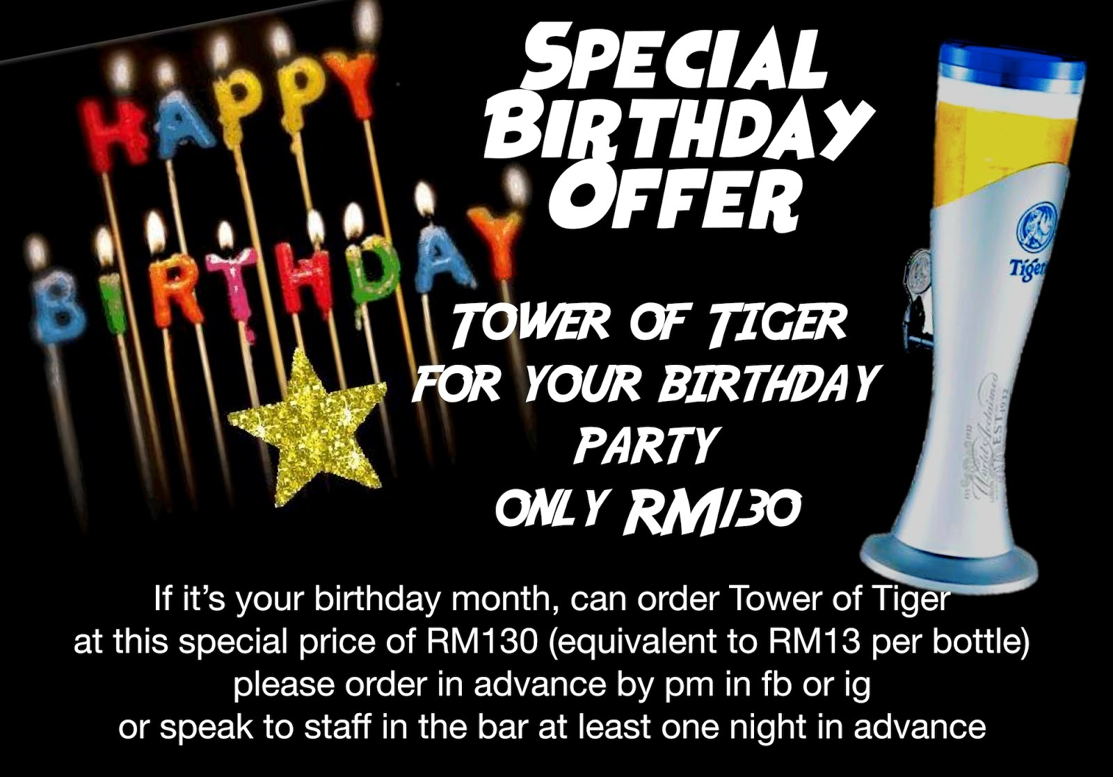 Birthday special offer