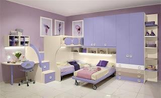 Habitación para hermanas en rosa