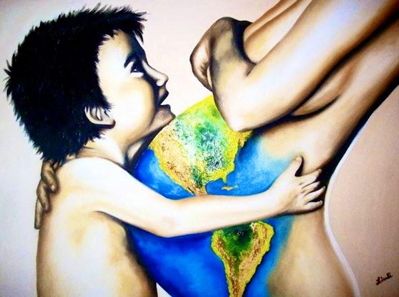 Meu Novo Mundo -  Pinturas de Lisete Alcalde | O pintor que toca o coração