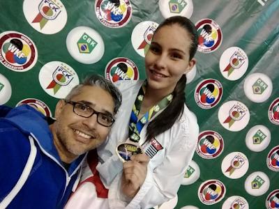 Atleta olimpiense conquista o Campeonato Brasileiro de Karatê