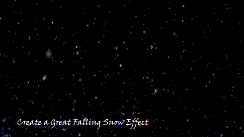 Falling Snow effect on Blog