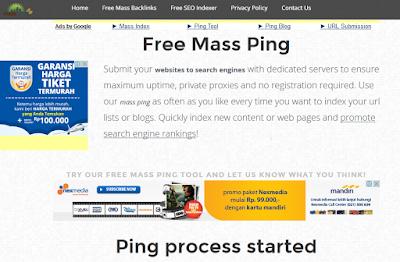 Backlink Berkualitas PR 1 s/d PR 9 dari masspings.com