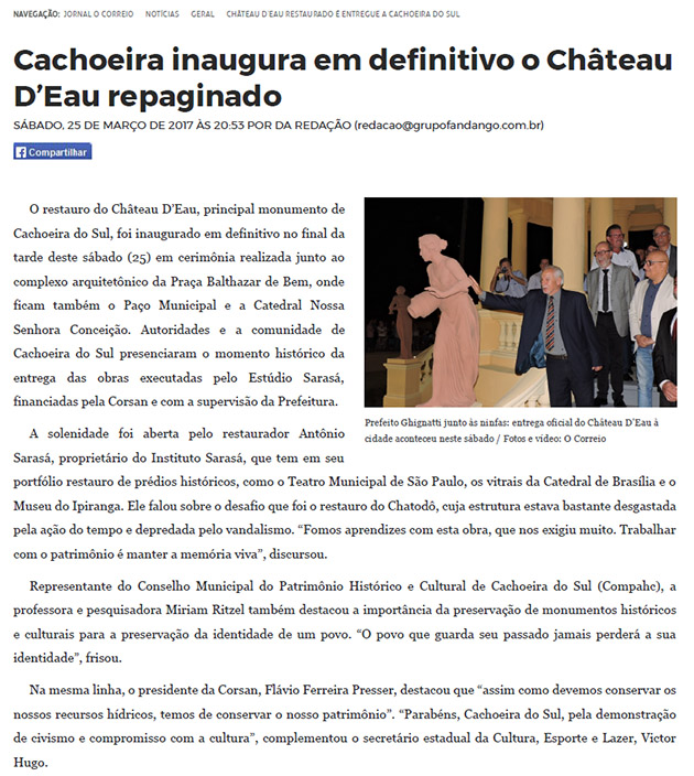 PONTE DE PEDRA: Jornais