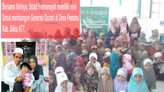 donasi ke Pesantren LPQ AL FATHINA Desa Pemana - Kec. Alok - Kab. Sikka - NTT