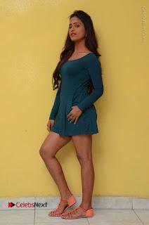 Telugu Actress Prasanthi Stills in Green Short Dress at Swachh Hyderabad Cricket Press Meet  0112.JPG
