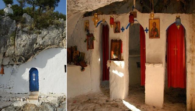 εντυπωσιακό «κρυμμένο» σε σπηλιά εκκλησάκι
