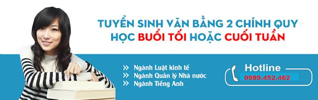Thông báo tuyển sinh Đại học Văn bằng 2 ngôn ngữ Anh năm 2018