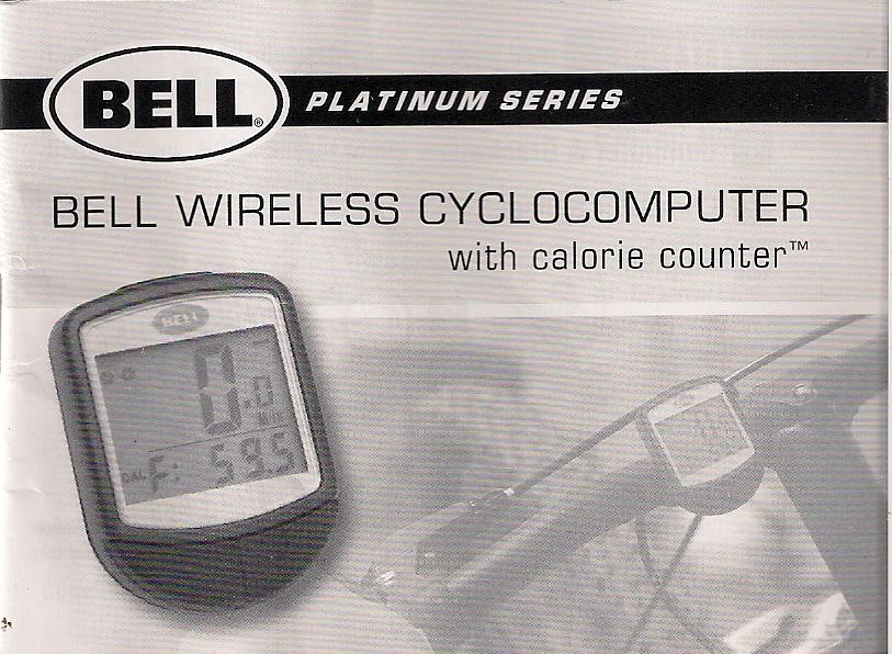 Bell wireless bike speedometer instructions.