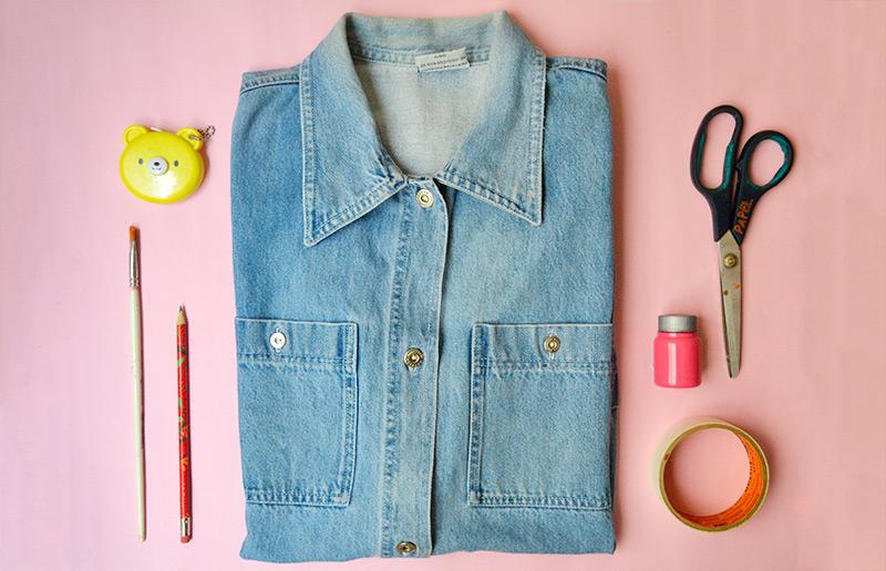 Como customizar uma peça de roupa usado apenas tinta!