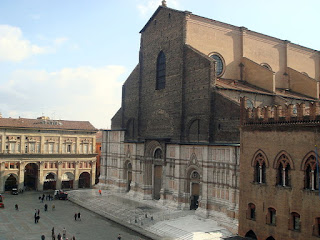 The Basilica of San Petronio, with its half-finished facade