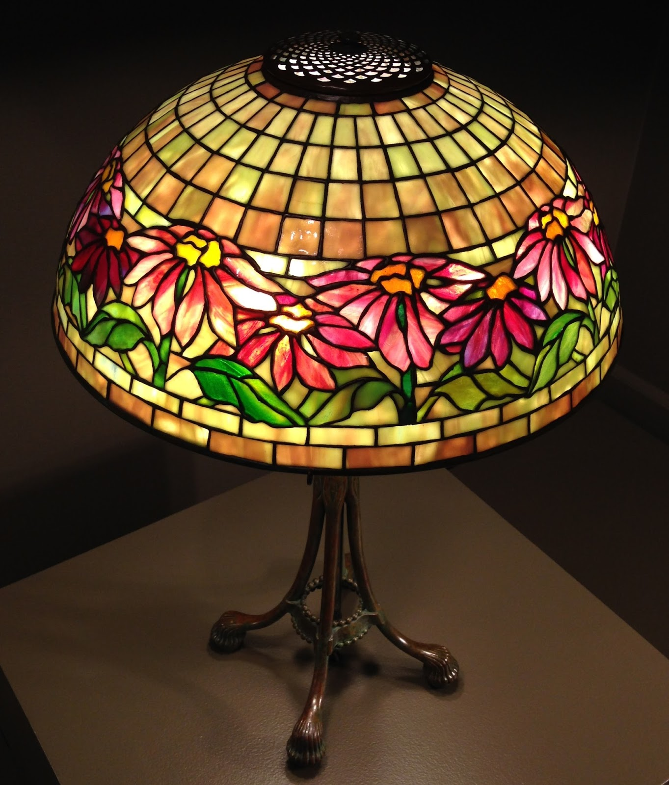Two Nerdy History Girls: Beautiful Leaded Glass Lamps by ...