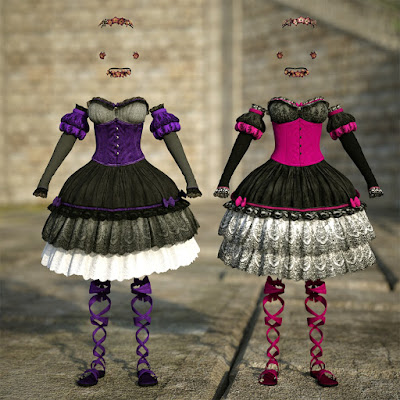 Hanami Outfit Textures