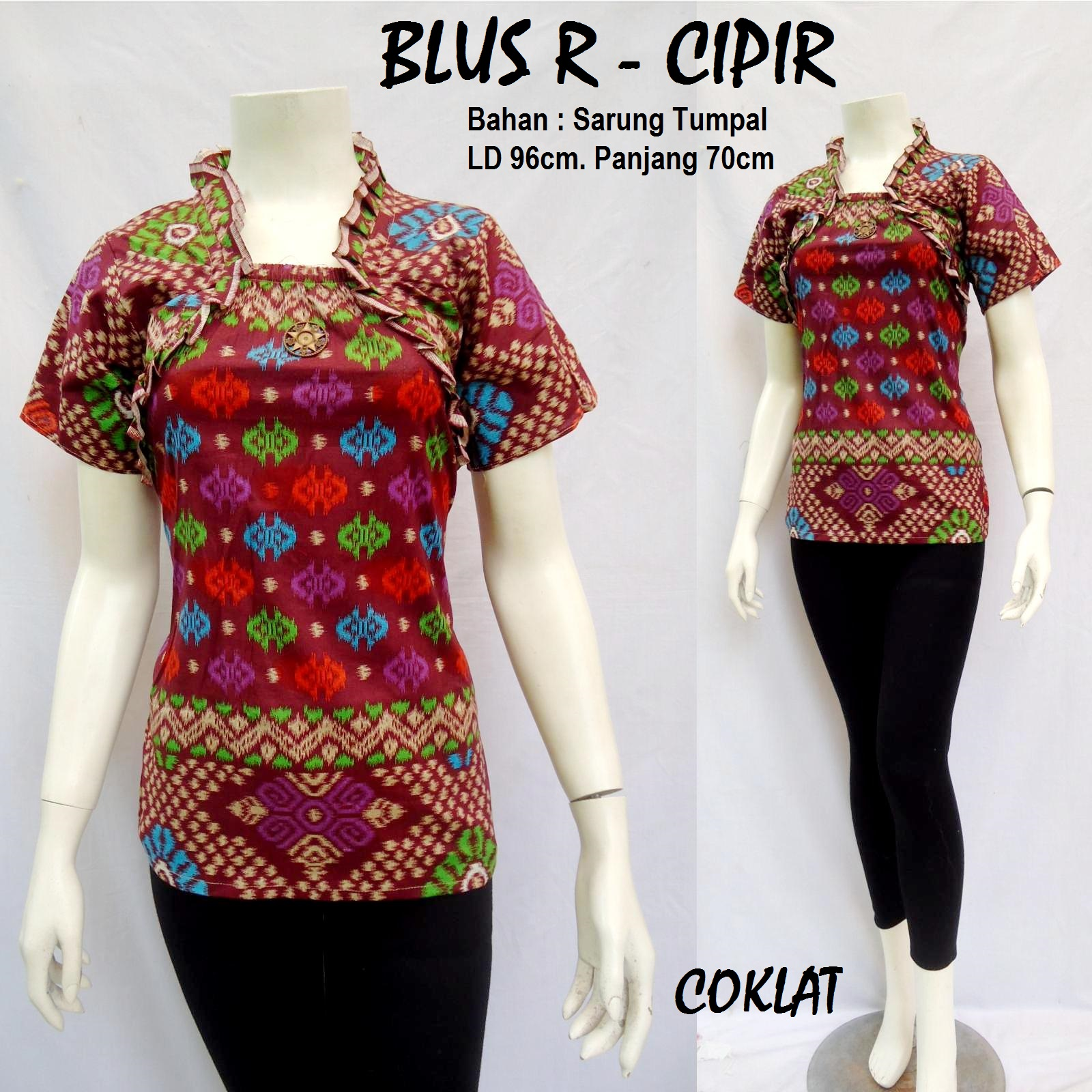 Produksi dan menjual grosireceran baju batik jadi BLUS ROMPI  CIPIR